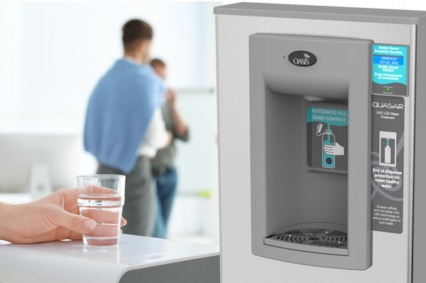 Contactless water coolers